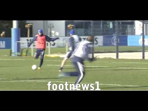Raul Crazy Skill and Goal at Schalke 04 Training