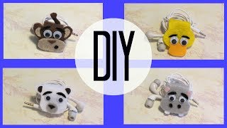 getlinkyoutube.com-DIY: Animal Earphone Holder (Monkey)
