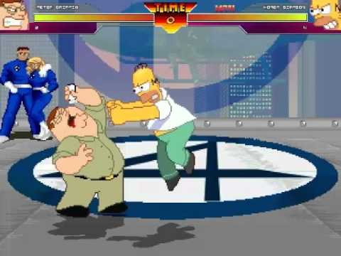 Peter Griffen vs Homer simpson