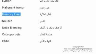 مصطلحات طبية باللغة الانجليزية الجزء 8