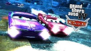 getlinkyoutube.com-GTA IV - PC - 7/30/13 - Disney 'CARS' Mod Event! - BUSTED!/Races/etc.
