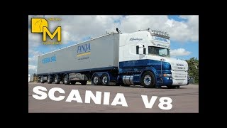 FURIOUS SCANIA TRUCK !!! CRAZY V8 SOUND ON HIGHWAY - STRAIGHT PIPE