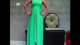getlinkyoutube.com-Como fazer Vestido longo sem costura, rápido e fácil