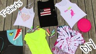 getlinkyoutube.com-DIY Clothes! 5 DIY T Shirt Projects - Cool!