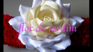 getlinkyoutube.com-DIY Satin ribbon rose,satin ribbon flower tutorial