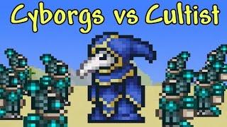 getlinkyoutube.com-[Terraria] 100 Cyborgs vs Lunatic Cultist