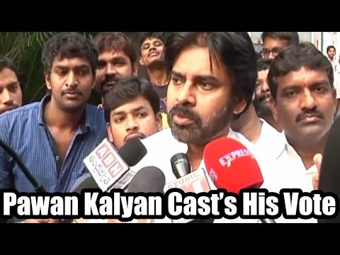 Pawan Kalyan Cast his Vote - 2014 Elections