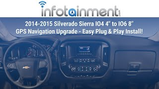 getlinkyoutube.com-2014+ Silverado Sierra IO4 - IO6 GPS Navigation Upgrade! Plug&Play! Chevrolet MyLink GMC Intellilink