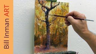 getlinkyoutube.com-Art Class Oil Painting Demo 8-21-14 Fall Trees
