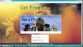 HOW TO GET A FREE MINECON OR OPTIFINE CAPE | GRATIS OPTIFINE ODER MINECON CAPE BEKOMMEN