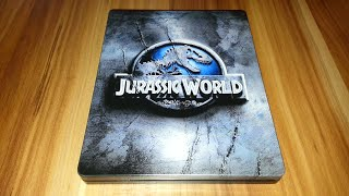 getlinkyoutube.com-JURASSIC WORLD - Steelbook Blu-ray Limited Edition Unboxing
