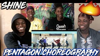 PENTAGON(펜타곤) - '빛나리(Shine)' (Choreography Practice Video) - REACTION
