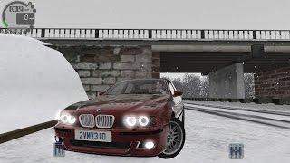 getlinkyoutube.com-City Car Driving 1.5.0 BMW M5 E39 SNOW [Logitech G27]