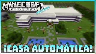 getlinkyoutube.com-¡Casa Automática! Minecraft PE 0.15.6 Mecanismos De Redstone Automaticos