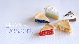 getlinkyoutube.com-Mini Pies - Polymer Clay Dessert Tutorial