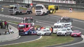 getlinkyoutube.com-24 heures du Mans camions 2011 crash et best of