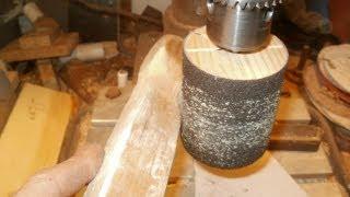 getlinkyoutube.com-grinder drum on drill press   шлифбарабан для сверлильного