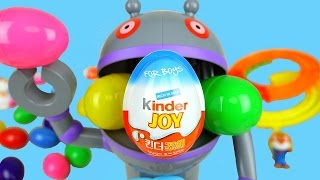 getlinkyoutube.com-Kinder Joy Surprise eggs Robot game toys & Pororo - ToyPudding
