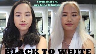 Black to White Hair Makeover - Hair Show by Toni&Guy Hairdresser | Amyra Irzanti