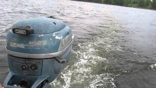 getlinkyoutube.com-1954 Evinrude lightwin 3hp outboard motor carb adjust