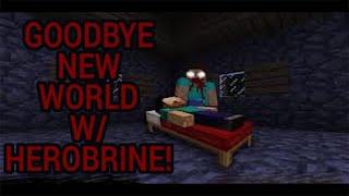 getlinkyoutube.com-Minecraft Temalı , Herobrine'lı Korku Oyunu! Goodbye New World!