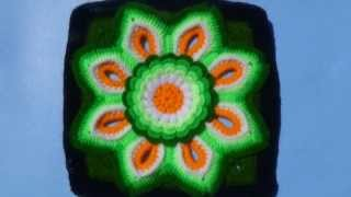 getlinkyoutube.com-muestras de tejidos a crochet para colchas de colores
