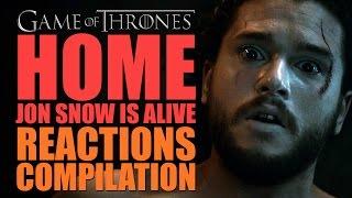 "getlinkyoutube.com-Game Of Thrones Season 6 | Home ""Jon Snow Is Alive"" Reactions Compilation"