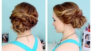 getlinkyoutube.com-Quick Side Updo for Prom! (or Weddings! :D)