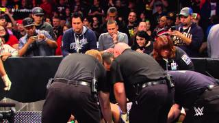 getlinkyoutube.com-Randy Orton is stretchered out: WWE Network Exclusive, Nov. 3, 2014