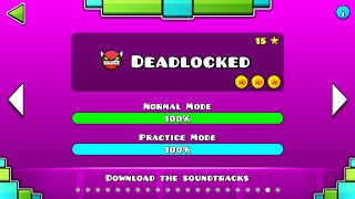"getlinkyoutube.com-Geometry Dash - ""Deadlocked"" 100% Complete [All Coins] 