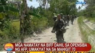 UB: Mga namatay na BIFF dahil sa opensiba ng AFP, umakyat na sa mahigit 70