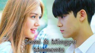 getlinkyoutube.com-Mingyu & Somi moments + SEVENTEEN reaction to I.O.I ''Dream Girls''