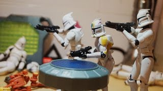 The Clone Wars Ep 1: Battle For The Base - StopMotion