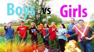 getlinkyoutube.com-NERF WAR: GIRLS VS BOYS! BATTLE OF THE SEXES IN 4K