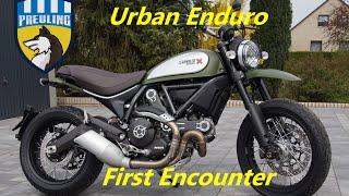 getlinkyoutube.com-Ducati Scrambler Urban Enduro First Encounter