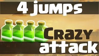 getlinkyoutube.com-INSANE 4 JUMPS 3 STAR ATTACK vs Maxed Defenses Th9 + Mass Valkyrie