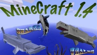 getlinkyoutube.com-MineCraft 1.4.6 Ocean Life, Coral Reefs, Sharks, Whales, Dolphins, Fishing, Diving!