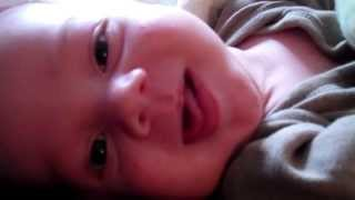 Newborn baby sleeping with EYES OPEN (Extended Version)