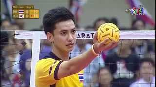 getlinkyoutube.com-[THA-KOR] 30th King's Cup Sepaktakraw Men's Team B Set1