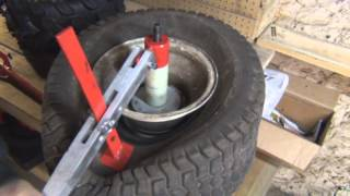 getlinkyoutube.com-How to change A Lawn Mower   ATV  4 Wheeler   Tire Using A Harborfreight Mini Tire Changer video