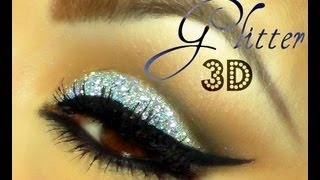 "getlinkyoutube.com-@auroramakeup -Brillos en 3D / 3D Glitter makeup ""ChrisspyMakeup"" inspiration"