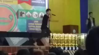 Buset bocah ini Beatbox keren banget di acara milad ainur rafiq