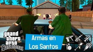 getlinkyoutube.com-GTA San Andreas - Armas escondidas en Los Santos (M9, AK-47, UZI, M4, RPG, C4...)