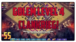 getlinkyoutube.com-Let´s Play Clash of Clans #55 [GER]   Clankrieg mit Golem Level 4!   Vicevice
