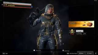 getlinkyoutube.com-Outrider - All Gold Hero Armor/Outfits Showcase (Black Ops 3).