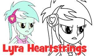 getlinkyoutube.com-How to draw Lyra Heartstrings Human My Little Pony Equestria Girls Rainbow Rocks step by step