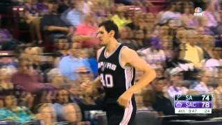getlinkyoutube.com-Boban Marjanović/San Antonio Spurs/NBA/Preseason Debut/Full Highlights!