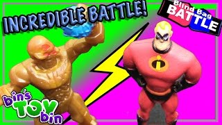 getlinkyoutube.com-Blind Bag Battle #19 - Incredible Battle! Disney, Shopkins, Marvel + More! | Bin's Toy Bin