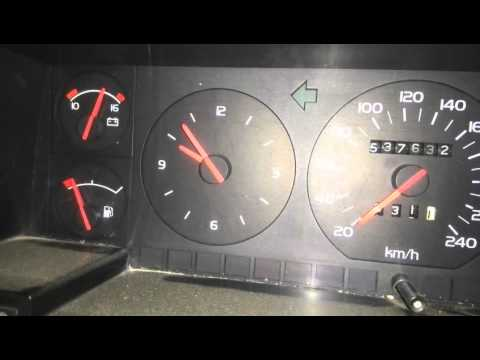 Расположение радиатора кондиционера у Volvo 960