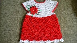 """getlinkyoutube.com-""""Детское ажурное платье"""" (Child fishnet dress)"""